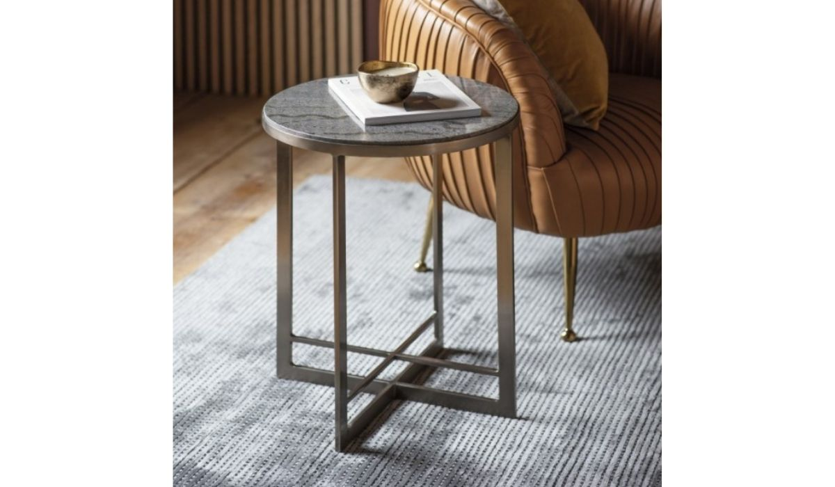 necton side table silver meath
