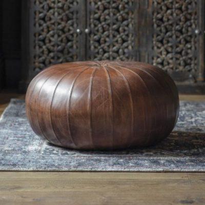 Banbridge Leather Pouffe Meath