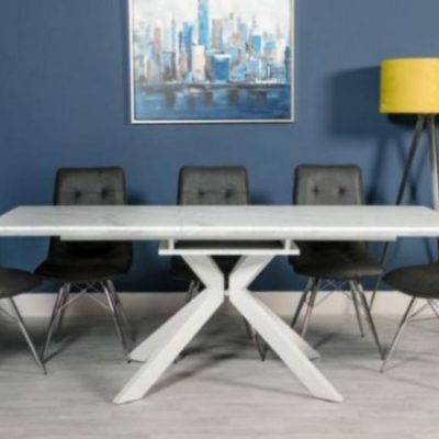 Bianco extending dining table 1600 - 2000 Meath