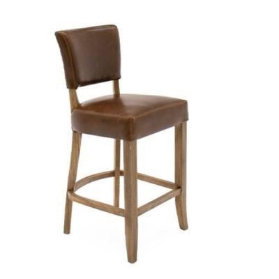 duke bar chair leather brown Meath
